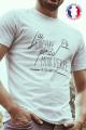 T-shirt blanc Made in France Homme J'ai perdu ma dignité