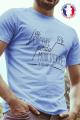 T-shirt bleu Made in France Homme J'ai perdu ma dignité