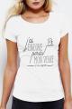 T-shirt blanc Femme J'ai perdu ma dignité