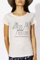 T-shirt crème chiné Femme J'ai perdu ma dignité