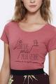 T-shirt framboise Femme J'ai perdu ma dignité