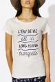 T-shirt crème chiné Femme L'eau de vie est un long fleuve tranquille