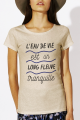 T-shirt beige Femme L'eau de vie est un long fleuve tranquille