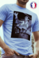 T-shirt bleu Made in France Homme French Apero