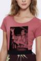 T-shirt framboise Femme French Apero
