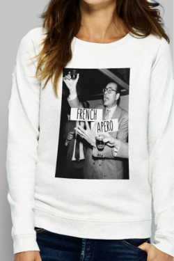 Sweat crème Femme French Apero