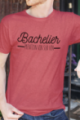 T-shirt rouge chiné Homme Bachelier