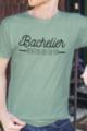 T-shirt vert chiné Homme Bachelier