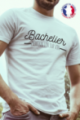 T-shirt blanc Made in France Homme Bachelier