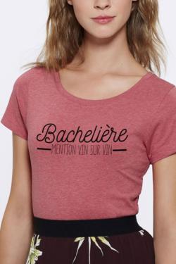 T-shirt framboise Femme Bachelière