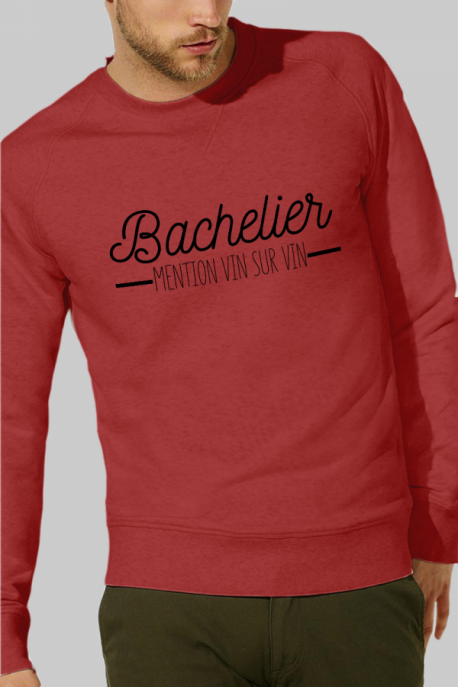 Sweat rouge Homme Bachelier