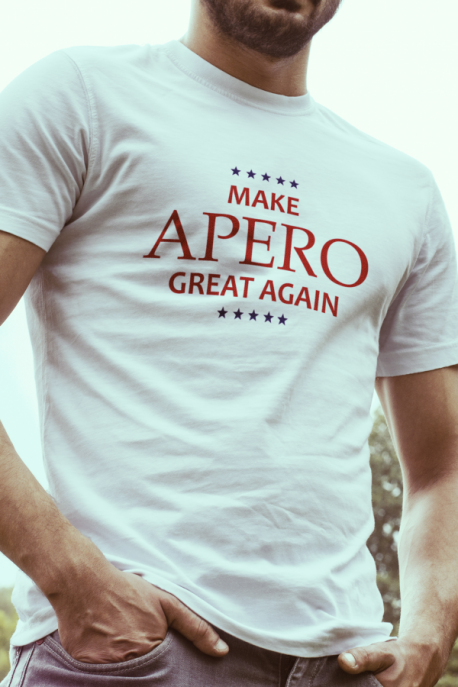 T-shirt blanc Homme Make Apero great again