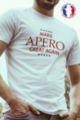 T-shirt blanc Made in France Homme Make Apero great again