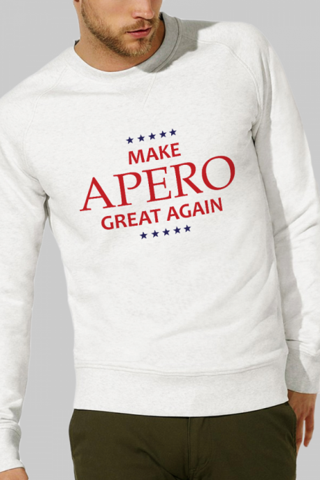 Sweat crème Homme Make Apero great again