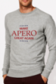 Sweat gris Homme Make Apero great again