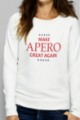 Sweat crème Femme Make Apero great again