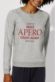 Sweat gris Femme Make Apero great again