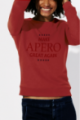 Sweat rouge Femme Make Apero great again