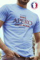 T-shirt bleu Made in France Homme Make Apero great again