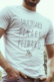 T-shirt blanc Homme Sauciflard, Pinard, Peinard