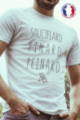T-shirt blanc Made in France Homme Sauciflard, Pinard, Peinard