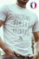 T-shirt blanc Made in France Homme Sauciflard, Pinard, Peinard