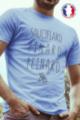 T-shirt bleu Made in France Homme Sauciflard, Pinard, Peinard