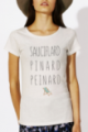 T-shirt crème chiné Femme Sauciflard, Pinard, Peinard