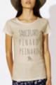 T-shirt beige Femme Sauciflard, Pinard, Peinard