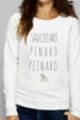 Sweat crème Femme Sauciflard, Pinard, Peinard