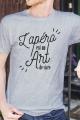 T-shirt Gris chiné Homme Apero est un Art de Vivre