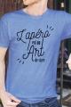 T-shirt Bleu chiné Homme Apero est un Art de Vivre