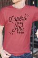 T-shirt Rouge chiné Homme Apero est un Art de Vivre