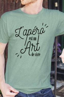 T-shirt Homme Apero est un Art de Vivre