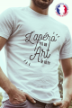T-shirt Blanc Homme Apero est un Art de Vivre - 100% Made in France