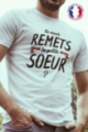 T-shirt blanc Made in France Homme La petite soeur