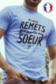 T-shirt bleu Made in France Homme La petite soeur