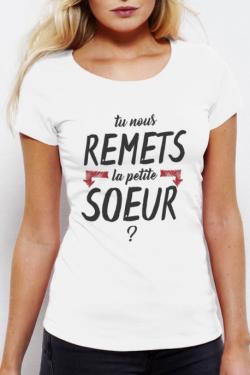 T-shirt blanc Femme La petite soeur