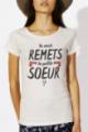 T-shirt crème chiné Femme La petite soeur