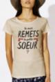 T-shirt beige Femme La petite soeur