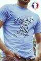 T-shirt Bleu Homme Apero est un Art de Vivre - 100% Made in France