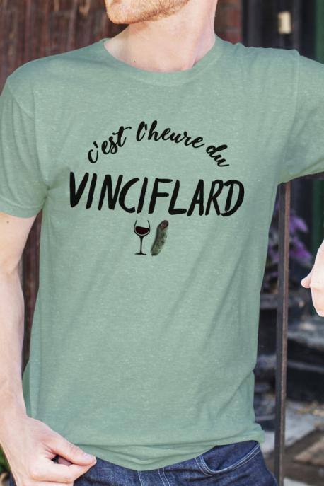 T-shirt vert chiné Homme Vinciflard