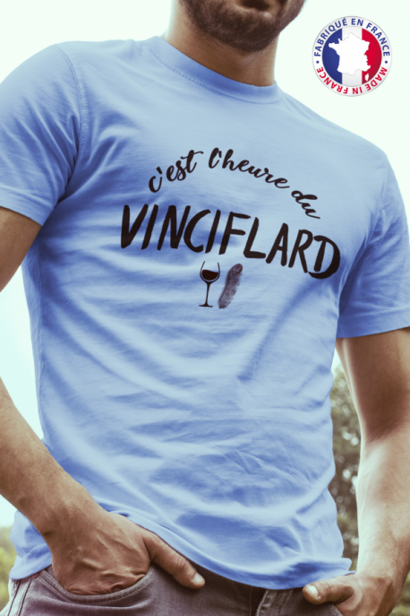 T-shirt bleu Made in France Homme Vinciflard
