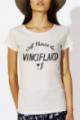 T-shirt crème chiné Femme Vinciflard
