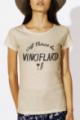T-shirt beige Femme Vinciflard