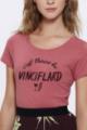 T-shirt framboise Femme Vinciflard