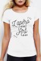 T-shirt Blanc Femme Apero est un Art de Vivre
