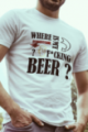 T-shirt blanc Homme Where is my beer