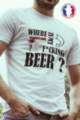 T-shirt blanc Made in France Homme Where is my beer