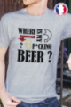 T-shirt gris chiné Made in France Homme Where is my beer